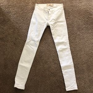 Hollister Low Rise White Skinny Jeans